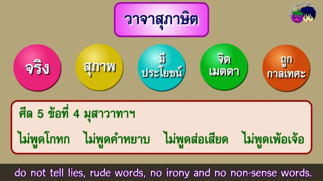 วาจาสุภาษิต การพูดดี